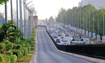 CDA allowed Development of New Blue Area Street Islamabad