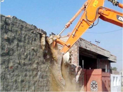 Capital Development Authority's operation against illegal construction